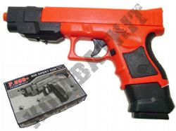 P698+ BB Gun Glock G33 Replica Spring Airsoft Pistol 2 Tone Black Orange